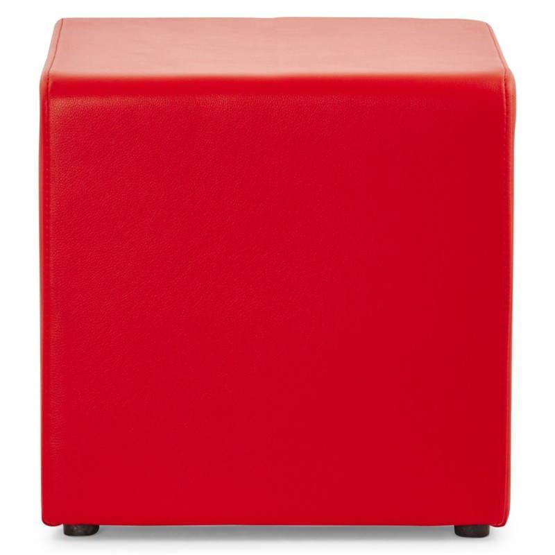 Pouf carré PORTICI en polyuréthane (rouge) - image 23361