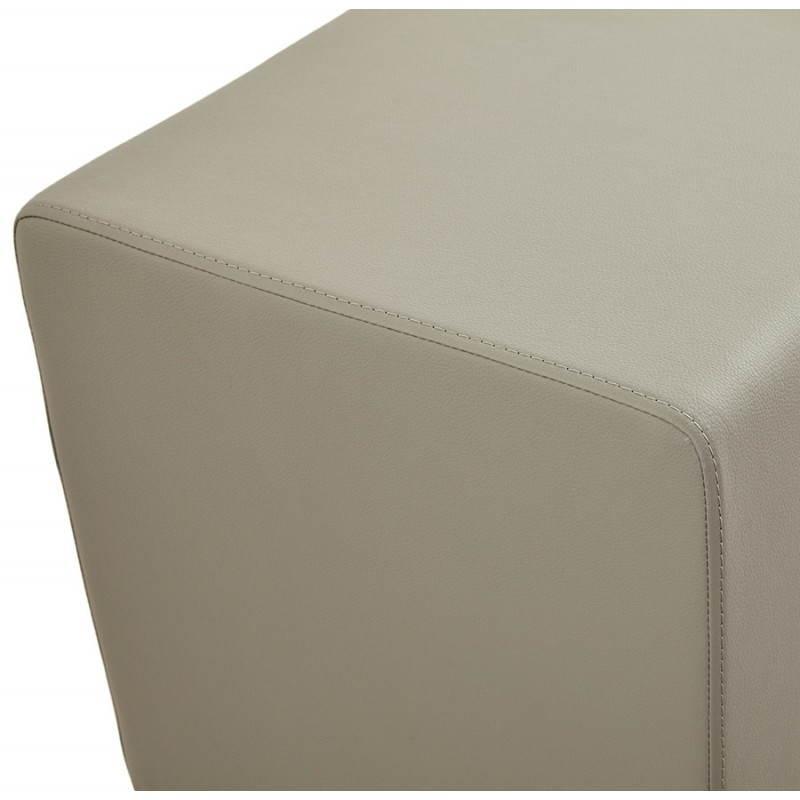Pouf carré PORTICI en polyuréthane (gris) - image 23380