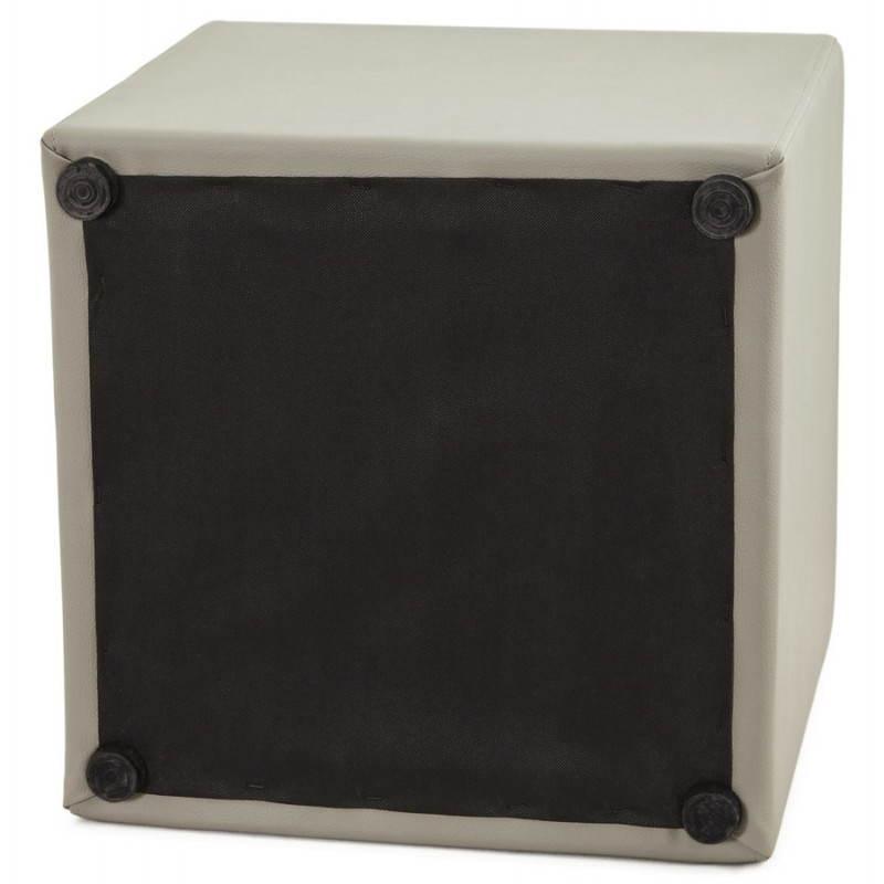 Pouf carré PORTICI en polyuréthane (gris) - image 23386