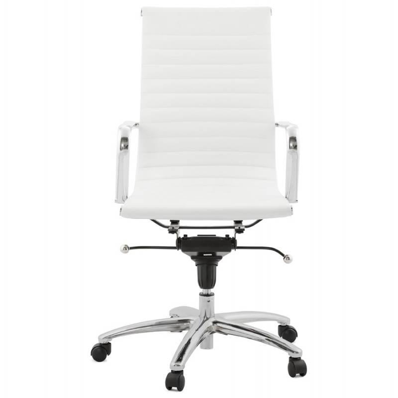 Fauteuil de bureau rotatif AMEN en polyuréthane (blanc) - image 23394