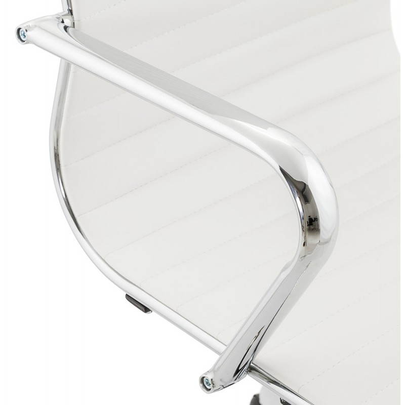 Fauteuil de bureau rotatif AMEN en polyuréthane (blanc) - image 23404