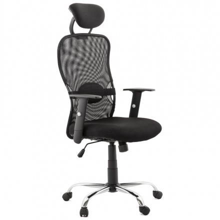 Office MODICA (black) fabric armchair