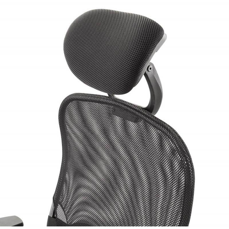 Fauteuil de bureau MODICA en tissu (noir) - image 23516