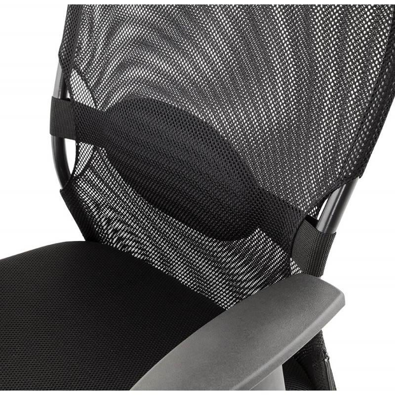 fauteuil de bureau modica en tissu noir. Black Bedroom Furniture Sets. Home Design Ideas