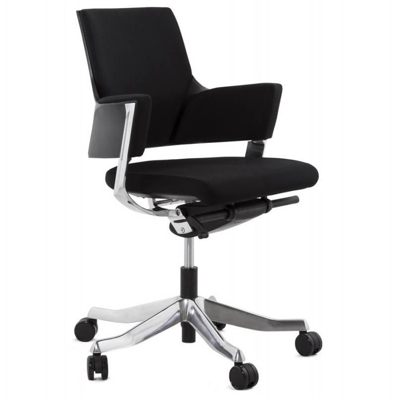 Fauteuil de bureau ergonomique brique en tissu noir - Fauteuil ergonomique de bureau ...