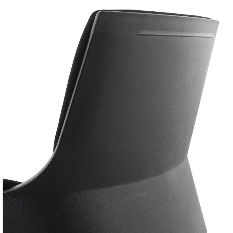 Fauteuil de bureau ergonomique BRIQUE en tissu (noir) - image 23537