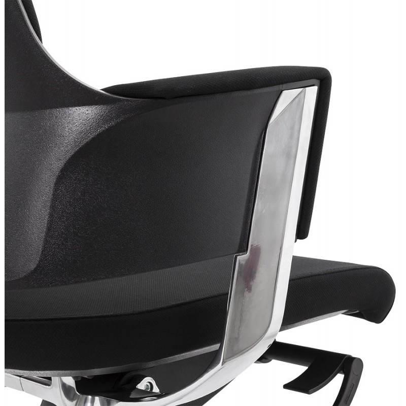 Fauteuil de bureau ergonomique BRIQUE en tissu (noir) - image 23538