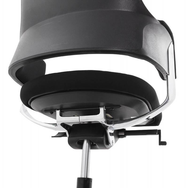 Fauteuil de bureau ergonomique BRIQUE en tissu (noir) - image 23544