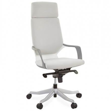 Ergonomischer Schreibtisch RAMY (grau) Stoff Stuhl