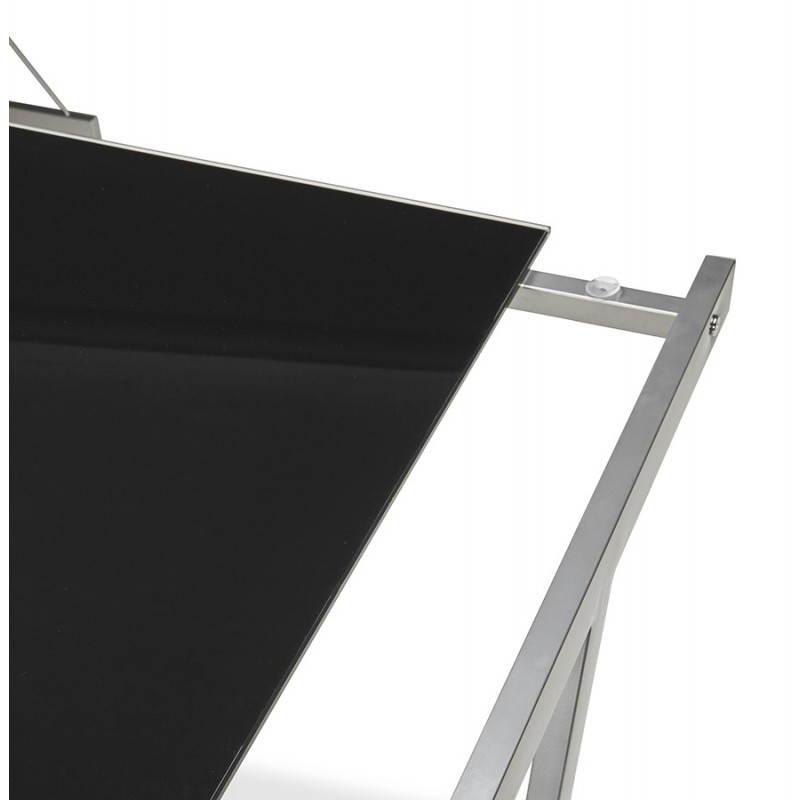 Bureau d'angle design ROVIGO en verre trempé et métal (noir) - image 23578
