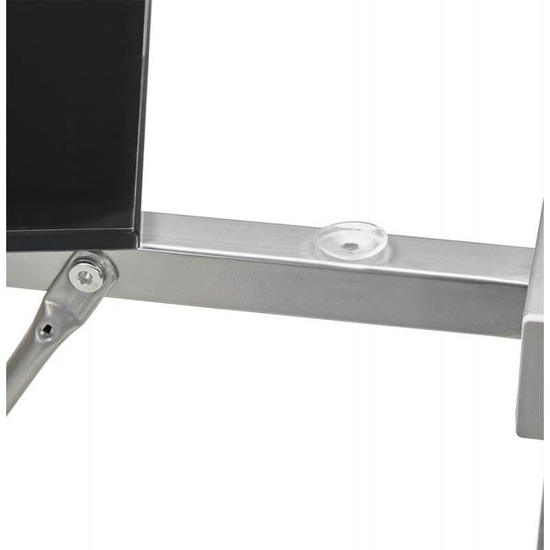 Bureau d'angle design ROVIGO en verre trempé et métal (noir) - image 23579