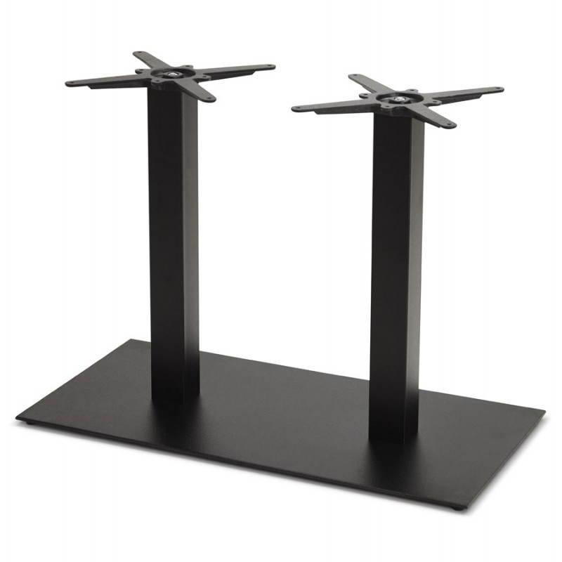 Doppelter Tischfuß RAMBOU aus lackierter Metall (50cmX100cmX73cm) (schwarz) - image 23607