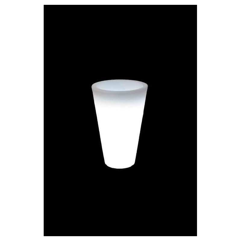 Pot ou vase lumineux intérieur extérieur BALSANE (blanc, H 45 cm) - image 23963