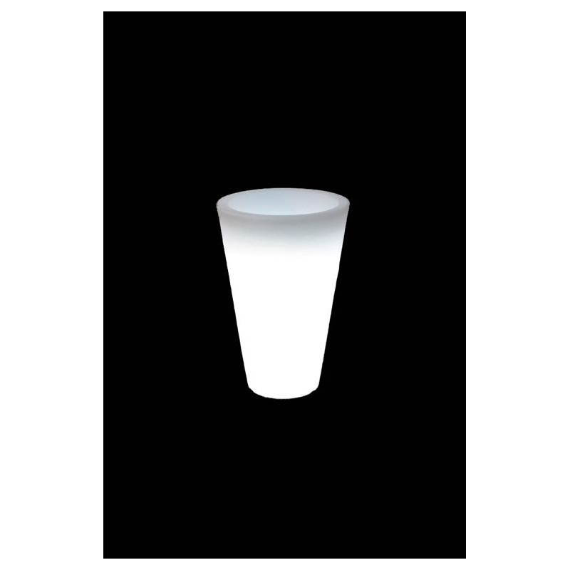 Pot ou vase lumineux intérieur extérieur BALSANE (blanc, H 63 cm) - image 24010