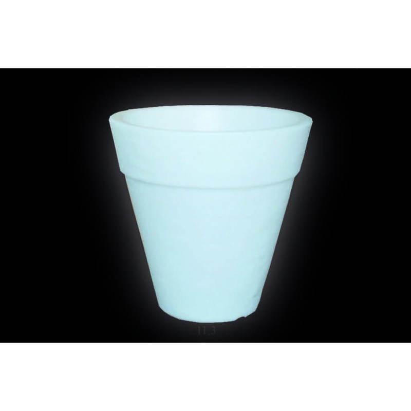 Pot ou vase lumineux int rieur ext rieur balsane blanc h for Pot lumineux exterieur solaire