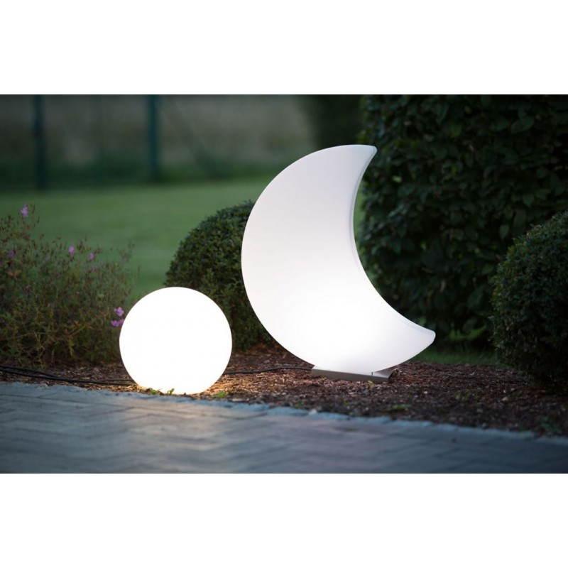 Lune lumineuse intérieur extérieur MOON (blanc, LED multicolore H 60 cm)