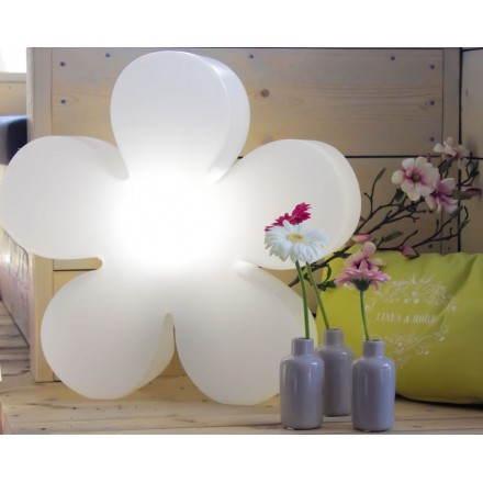 Fleur lumineuse intérieur extérieur TREFLE (blanc Ø 60 cm)