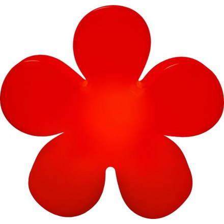 Fleur lumineuse intérieur extérieur TREFLE (rouge Ø 60 cm)