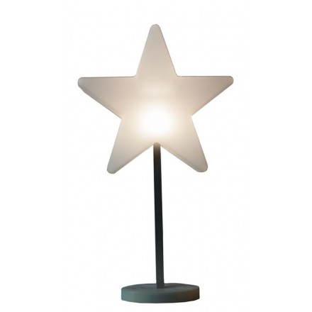 Stella luminosa interno piede ANNAH (bianco, LED, Ø 30 cm, batteria)