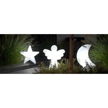Figurine lumineuse ANGE intérieur extérieur (blanc, H 40 cm)