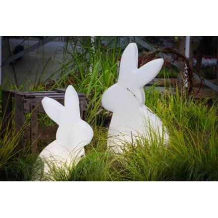 Figura chiara fuori coniglio domestico (LED bianco, multicolor, H 70 cm)