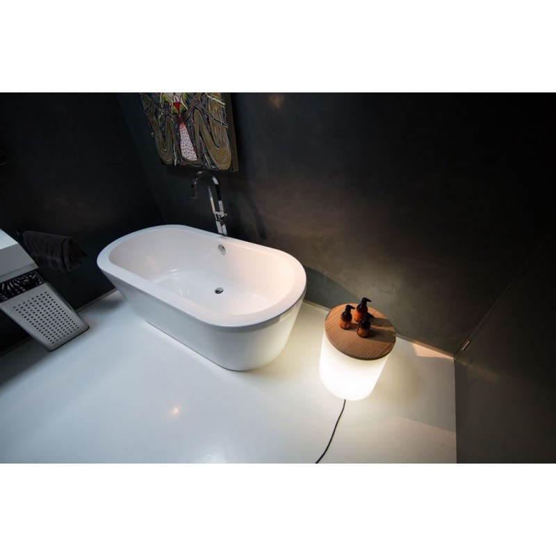 Table basse lumineuse cylindrique EVA intérieur extérieur (blanc) - image 24440