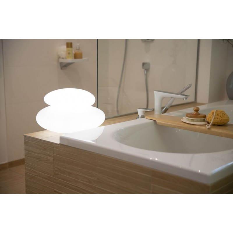 Lampe lumineuse GALET intérieur extérieur (blanc, LED multicolore) - image 24491