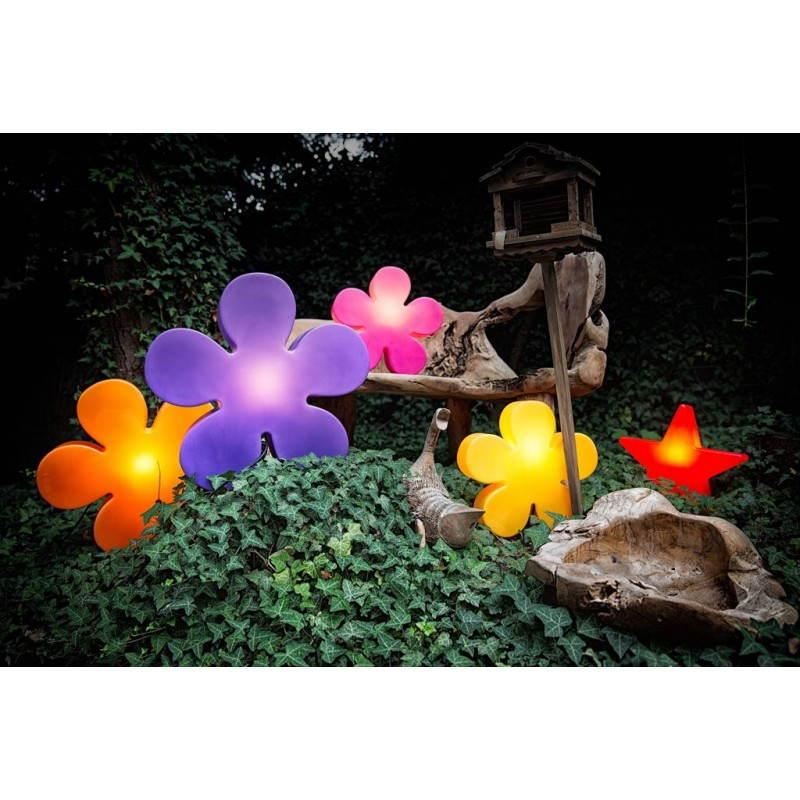 Fleur lumineuse TREFLE intérieur extérieur (jaune Ø 40 cm) - image 24587