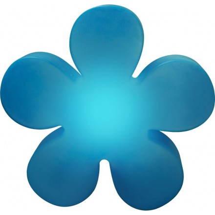 Fiore luminoso trifoglio indoor all'aperto Ø 40 cm (blu)