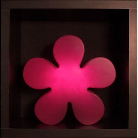 Fleur lumineuse TREFLE intérieur extérieur (rose Ø 60 cm)