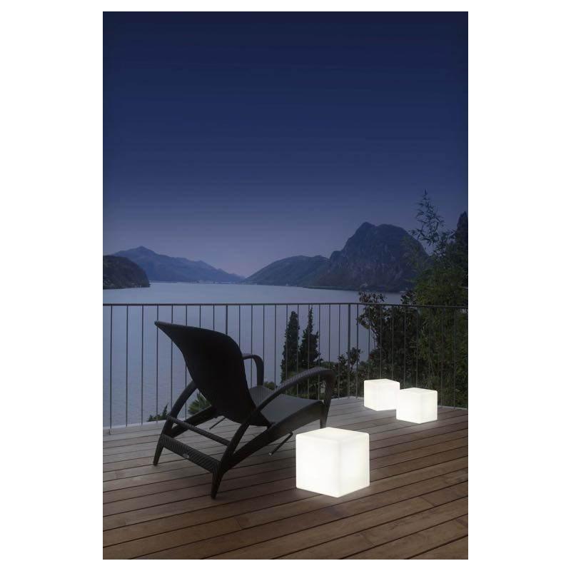 Table basse lumineuse CUBE intérieur extérieur (blanc, LED multicolore, H 43 cm) - image 24750
