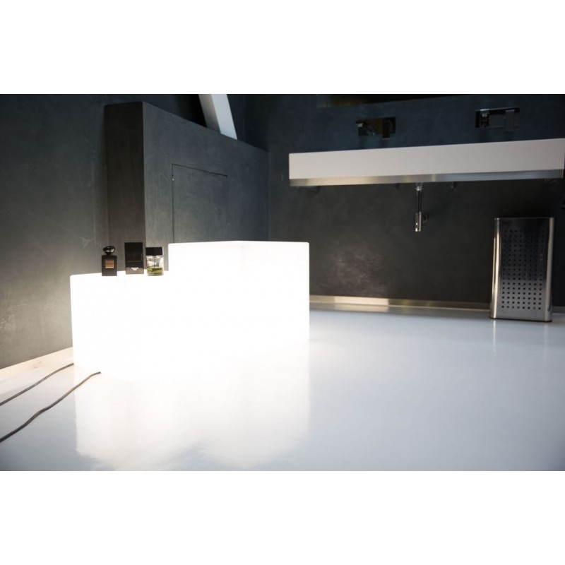 Table basse lumineuse CUBE intérieur extérieur (blanc, LED multicolore, H 43 cm) - image 24753