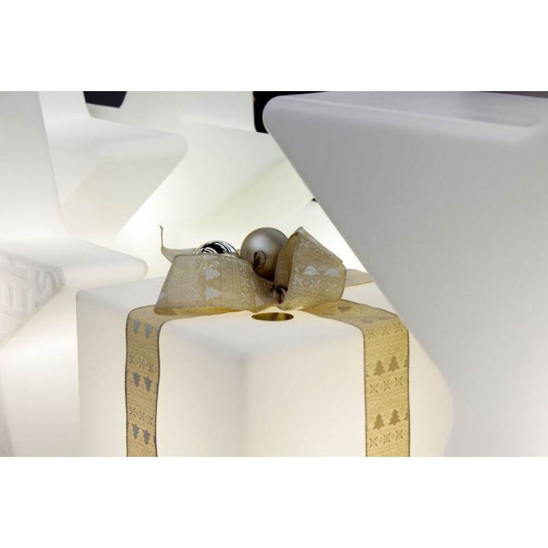 Table basse lumineuse CUBE intérieur extérieur (blanc, H 43 cm) - image 24759