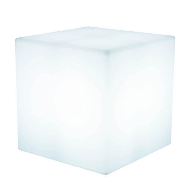 Table basse lumineuse CUBE intérieur extérieur (blanc, H 43 cm) - image 24763