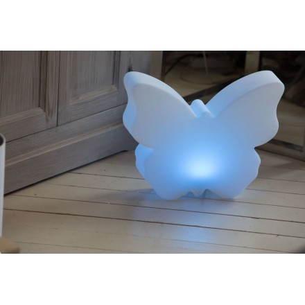Figurine lumineuse PAPILLON intérieur extérieur (blanc, LED multicolore)
