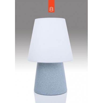 Lampe de table lumineuse MIMA intérieur extérieur (bleu, H 60 cm)