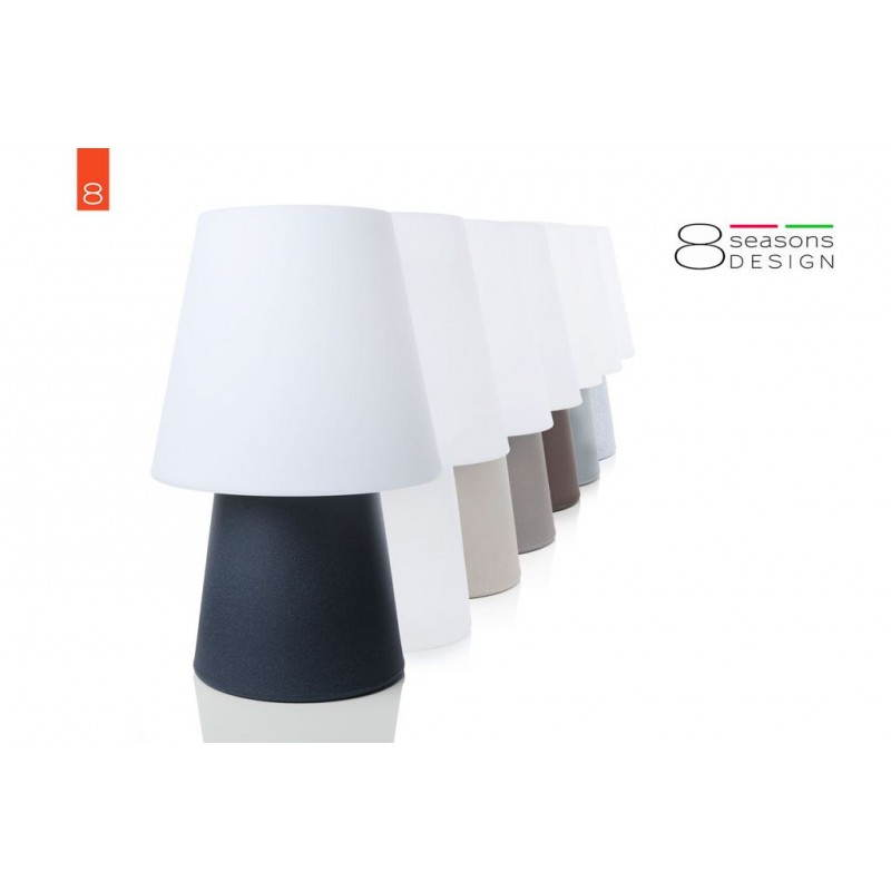 Lámpara de mesa de luz MIMA interior LED al aire libre (gris, multicolor, H 60 cm) - image 24911