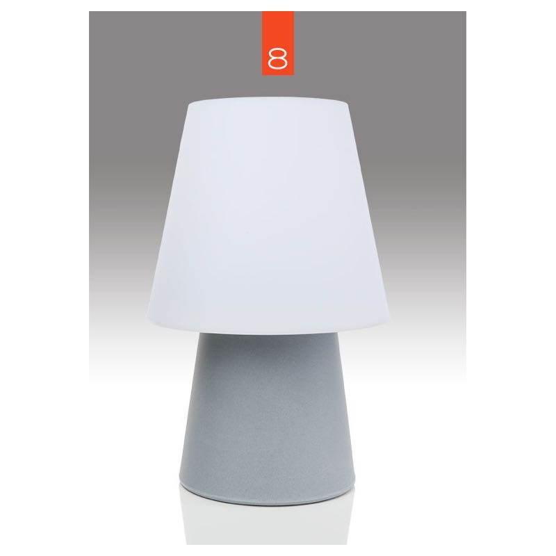 Lámpara de mesa de luz MIMA interior LED al aire libre (gris, multicolor, H 60 cm)