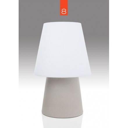 Lampe de table lumineuse MIMA intérieur extérieur (beige, H 60 cm)