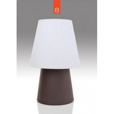 Lampe de table lumineuse MIMA intérieur extérieur (marron, H 60 cm)