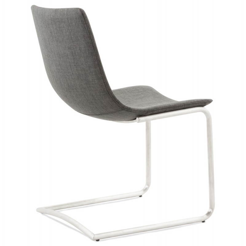 Chaise design et moderne RIMINI en textile (gris) - image 24976