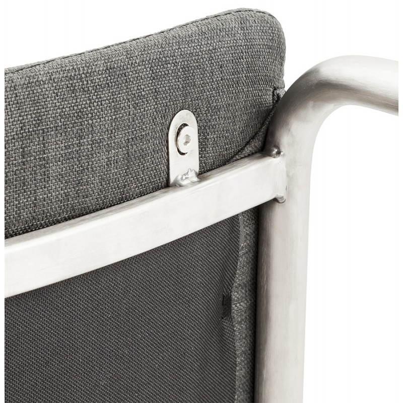 Chaise design et moderne RIMINI en textile (gris) - image 24984