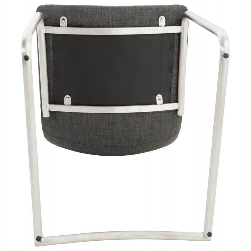 Chaise design et moderne RIMINI en textile (gris) - image 24985