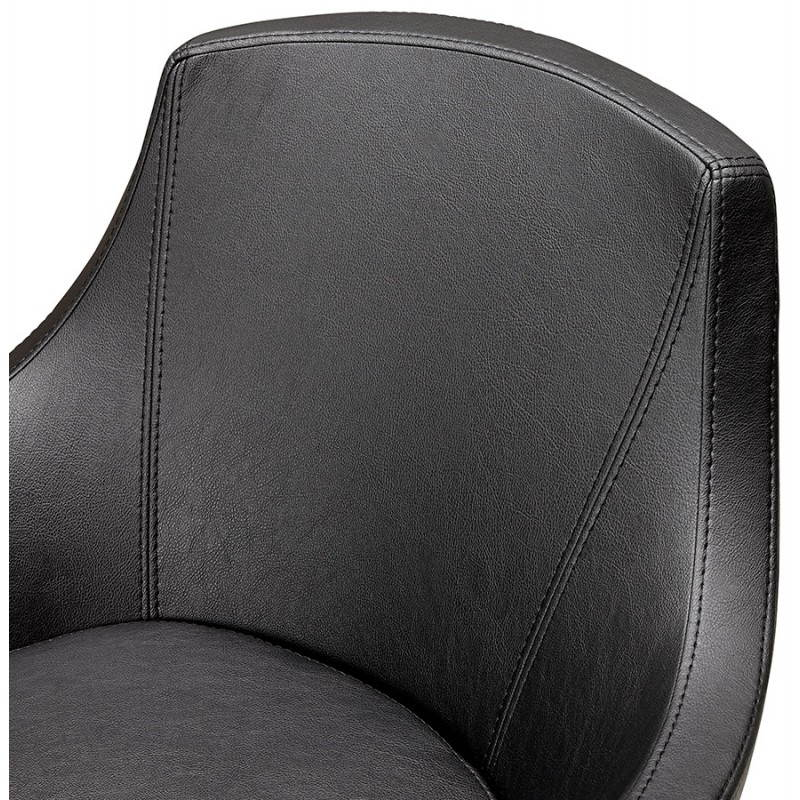 Design rotating armchair with 360 ° ROMANE (black) - image 25017