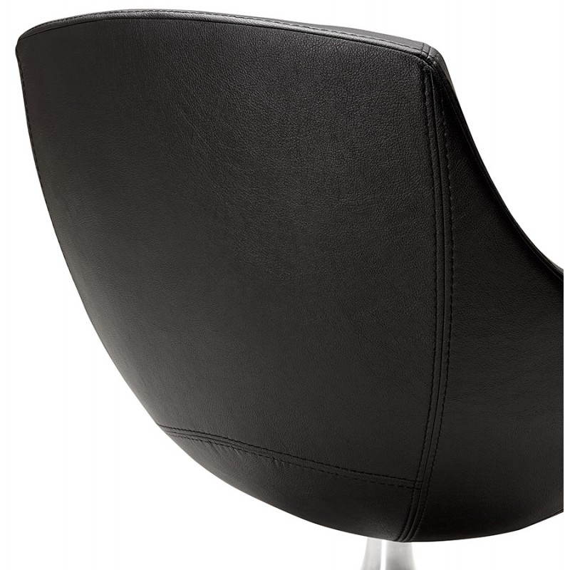 Design rotating armchair with 360 romane white - Fauteuil simili cuir noir ...