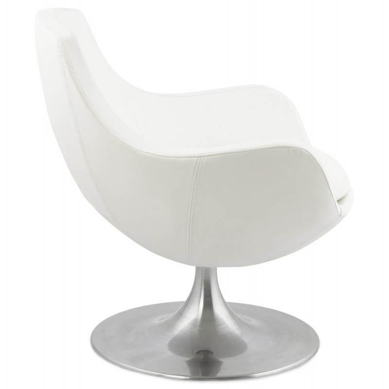 fauteuil design rotatif 360 romane blanc. Black Bedroom Furniture Sets. Home Design Ideas