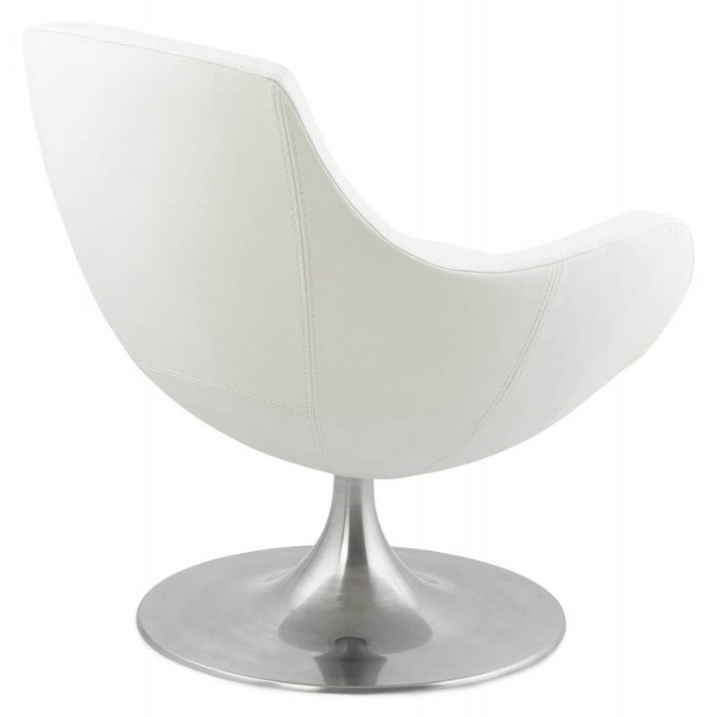 Design rotating armchair with 360 ° ROMANE (white) - image 25028