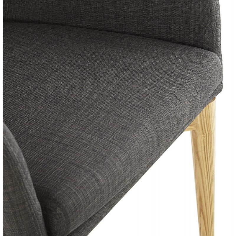 Diseño escandinavo estilo tela silla de BARBARA (gris oscuro) - image 25047