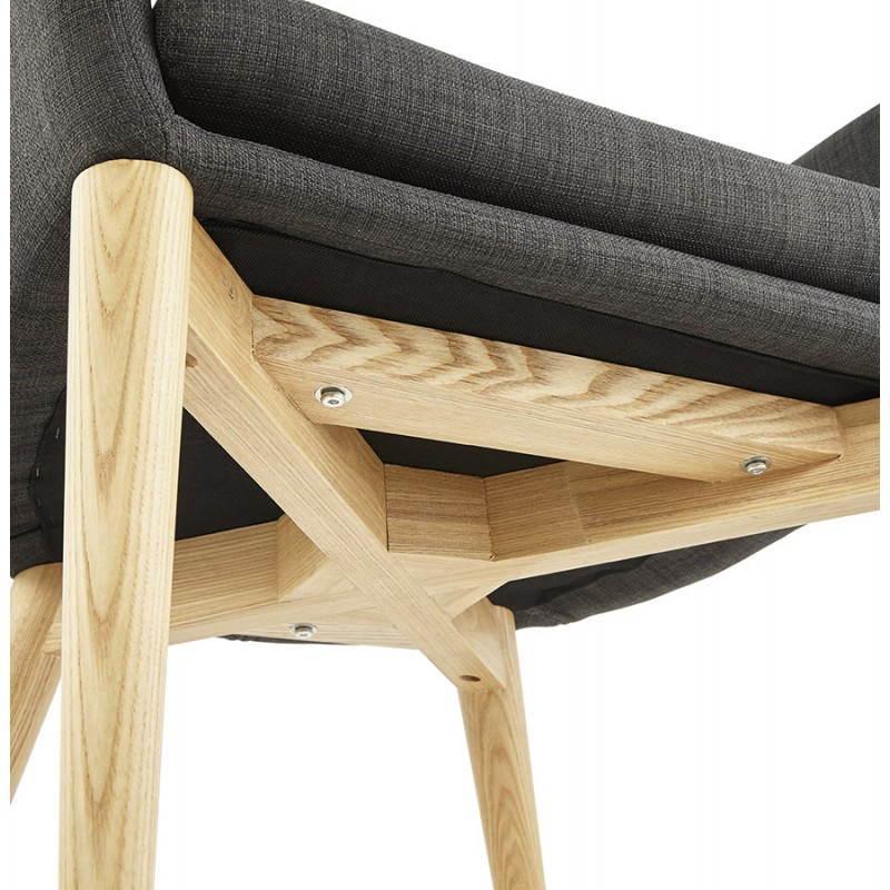 skandinavischen stil barbara dunkelgrau stoff stuhl. Black Bedroom Furniture Sets. Home Design Ideas