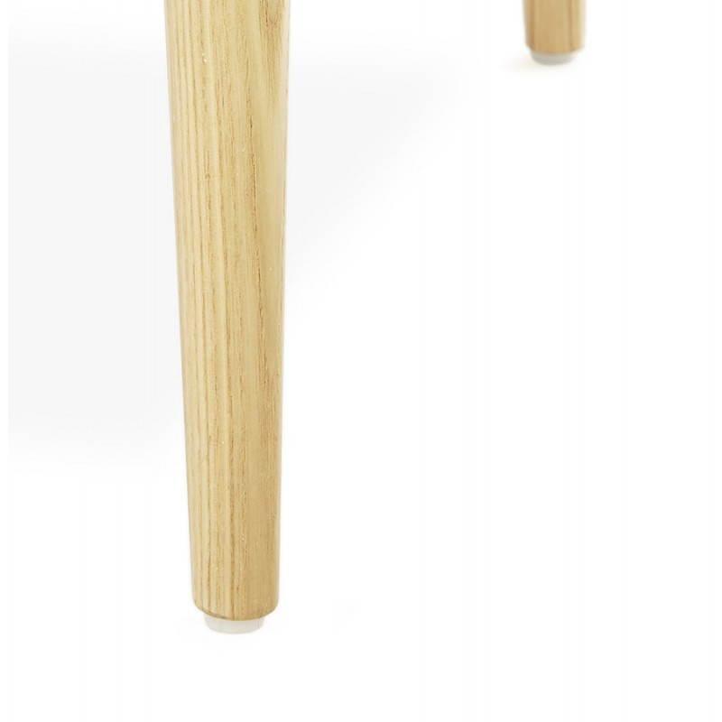 Fauteuil de style scandinave design BARBARA en tissu (gris foncé) - image 25049